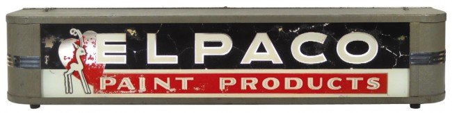 11: Elpaco Paint Products light-up sign, mfgd by Ohio A