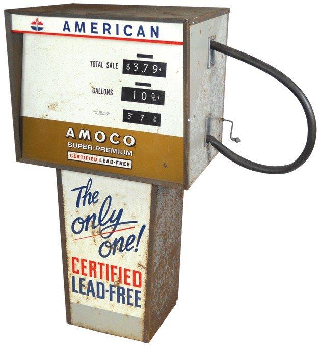 15: Child size gasoline pump, Amoco American, Good cond
