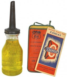 Phillips 66 Glass Oil Bottle From Jay B. Rhodes Co.