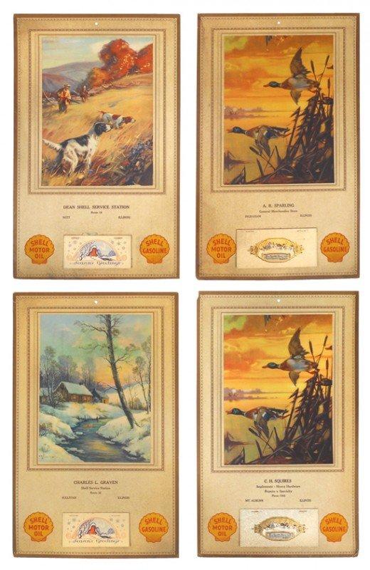 76: Shell Gasoline 1930 advertising calendars (4), from