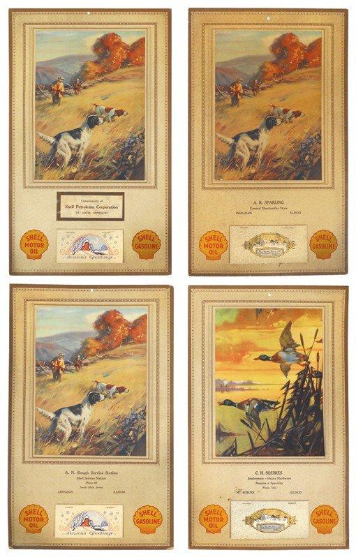 82: Shell Gasoline 1930 advertising calendars (4), from