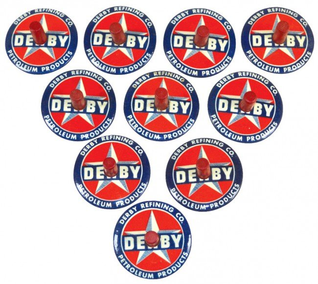 84: Derby Refining Co. advertising spinners (10), color