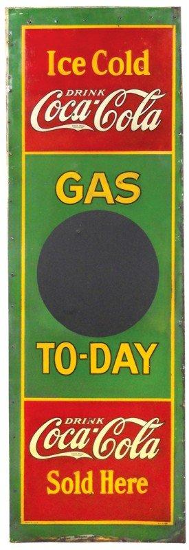 205: Petroliana blackboard sign, Gas To-Day w/Drink Coc