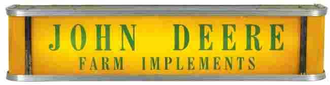 426: John Deere Farm Implements light-up counter sign,