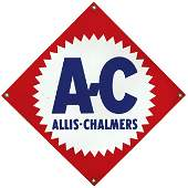 473: Allis-Chalmers porcelain sign, colorful red, white
