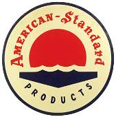 521: American-Standard porcelain sign, colorful red, wh