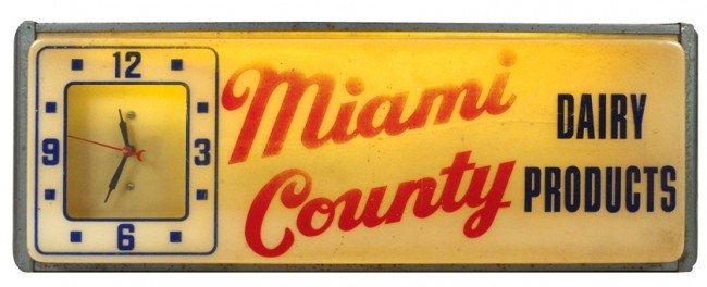 543: Miami County Dairy Products (Ohio) light-up sign w