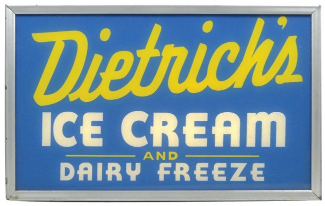 546: Dietrich's Ice Cream and Dairy Freeze light-up sig