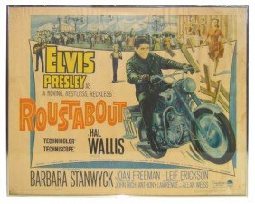 Roustabout Elvis Presley Movie Poster, Dated 1964,