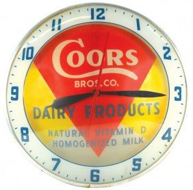 Coors Bros. Co. Dairy Products Double-bubble Light