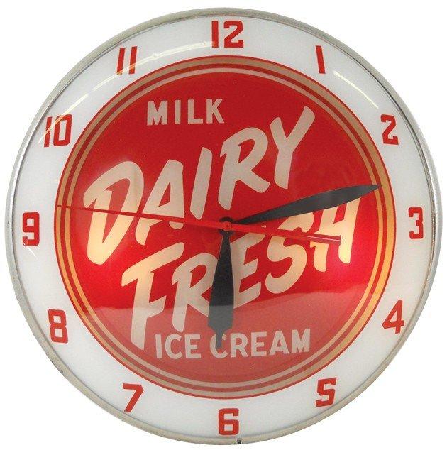 682: Dairy Fresh Ice Cream & Milk double-bubble light-u