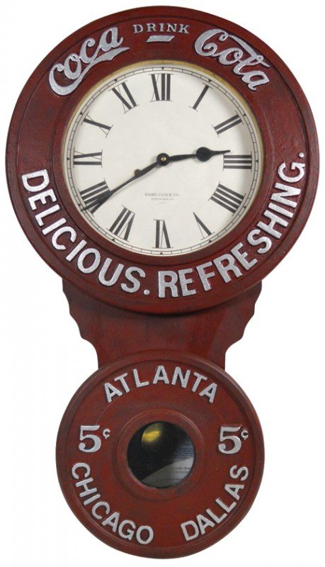 684: Coca-Cola Baird clock, a reproduction of the 1896
