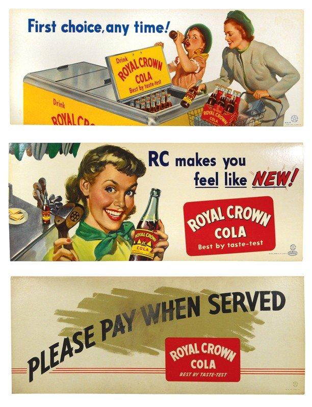 688: Royal Crown Cola cdbd trolley signs (3), Please Pa
