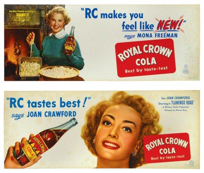 689: Royal Crown Cola movie star cdbd trolley signs (2)