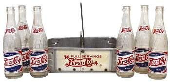 738: Pepsi-Cola double-dot metal bottle carrier, c.1940