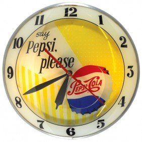 "Pepsi-Cola ""say Pepsi Please"" Double-bubble Light-"