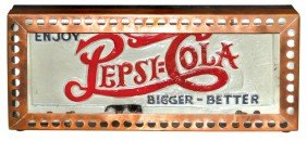 Pepsi-Cola Neon Sign, Plaster Double-dot Face W/pi