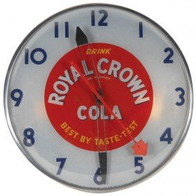 Royal Crown Cola Light-up Clock, Mfgd By Telechron