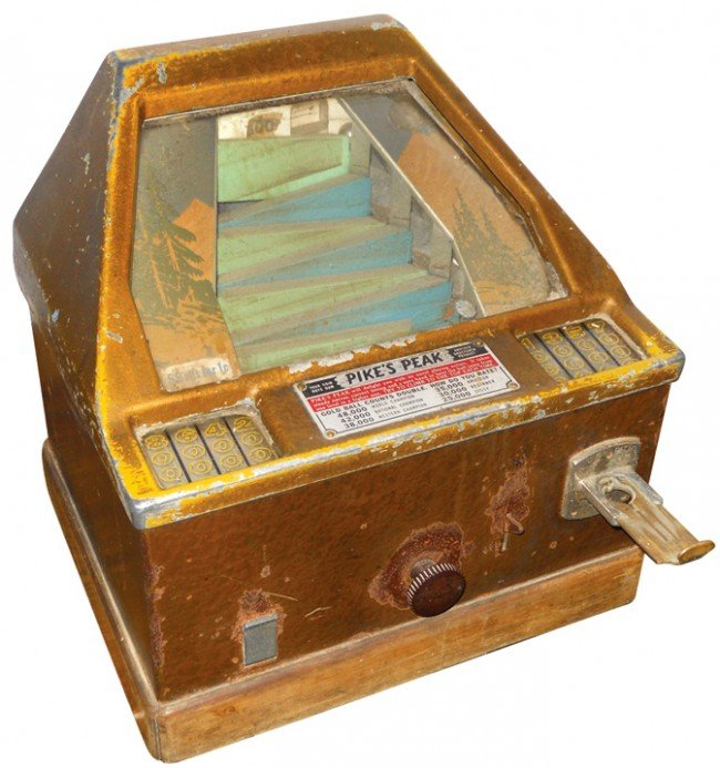 872: Coin-operated trade stimulator, Pike's Peak, VG or