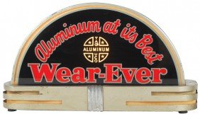 1127: Wear-Ever Aluminum light-up counter sign, 2-sided