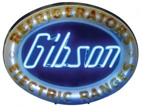 1129: Gibson Refrigerators & Electric Ranges neon sign