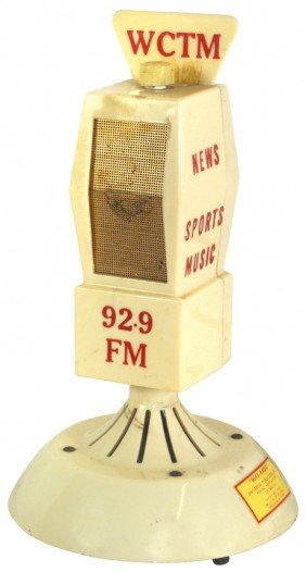 1136: Radio station microphone from WCTM-92.9 FM, mfgd