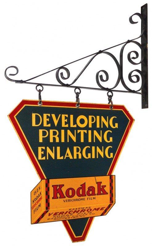 1138: Kodak Developing, Printing, Enlarging diecut meta
