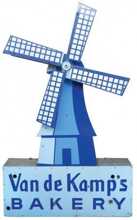 Van De Kamp's Bakery Porcelain Sign W/rotating Wi