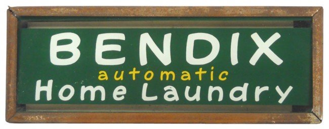 1143: Bendix Automatic Home Laundry neon counter sign,