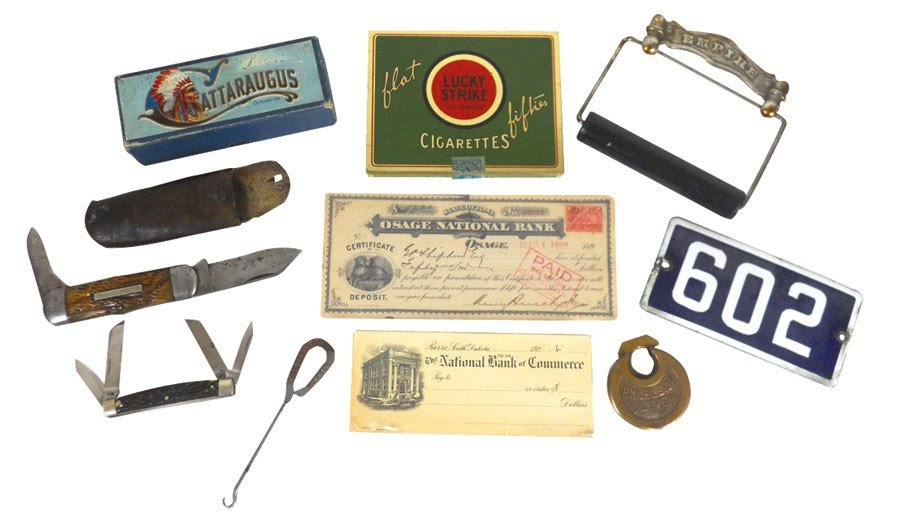 0001: Advertising smalls, pocket knives-Robeson & Josep