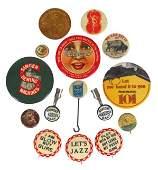 0004: Advertising pinbacks, pocket mirrors, etc. (15 pc