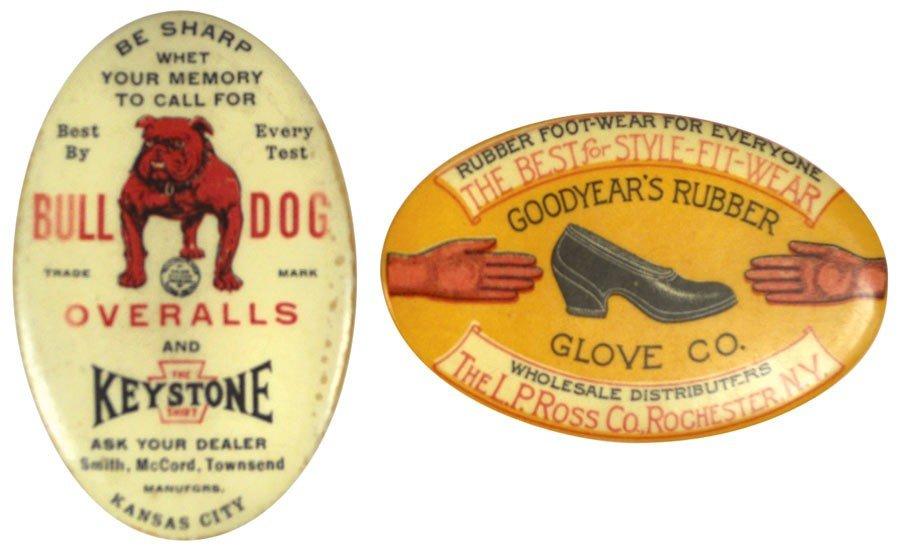 0005: Advertising whetstones (2) & paperweight, Goodyea