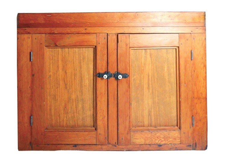 0021: Primitive dry sink, pine 2-door w/square nails, V