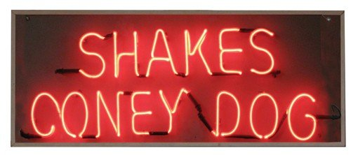 0988A: Neon sign, Shakes & Coney Dogs
