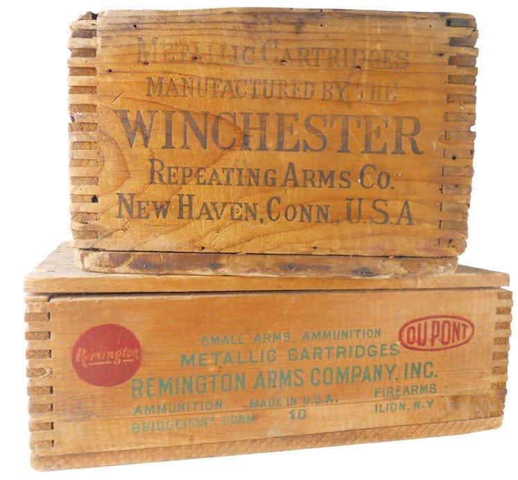 Ammunition boxes (2), Remington Arms Company, Inc. Hi-S