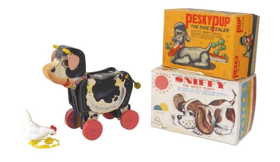 Toys (4), Fisher Price pull Moo-oo cow, Sniffy The Nose
