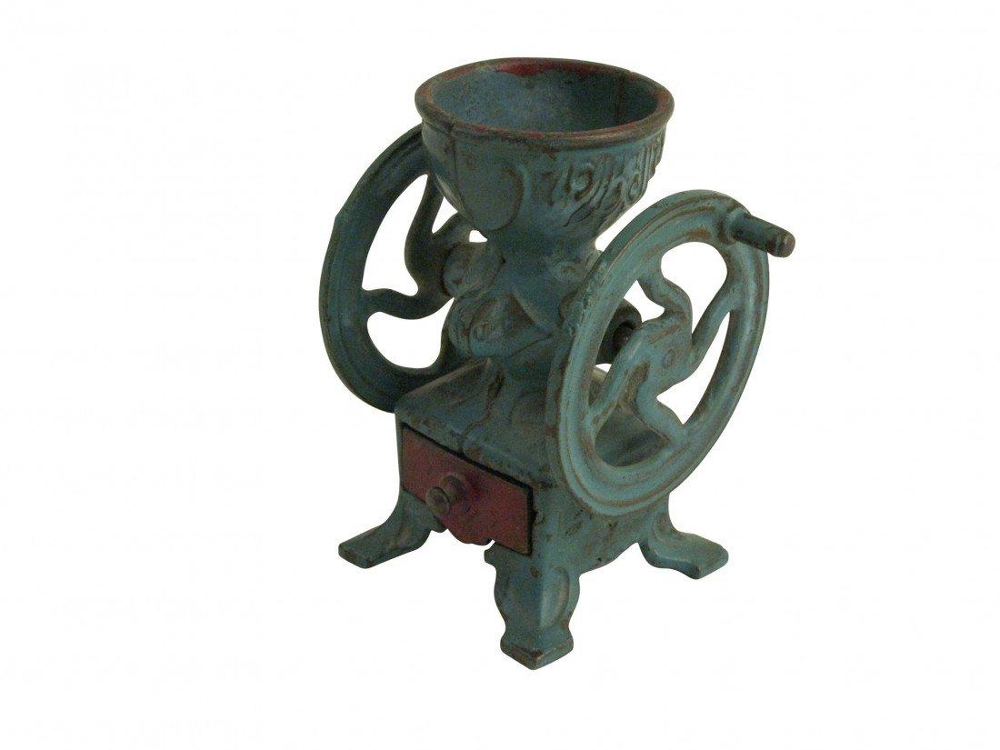 Toys & bank (3 pcs), all cast iron; Donkey w/saddle ban - 3