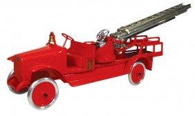 Toy, Buddy L Aerial Truck #205-B, Pressed Steel, Exc Pr
