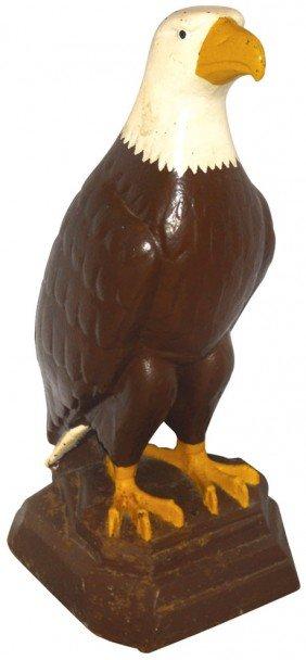 Petroliana, White Eagle Gasoline Cast Iron Eagle W/old