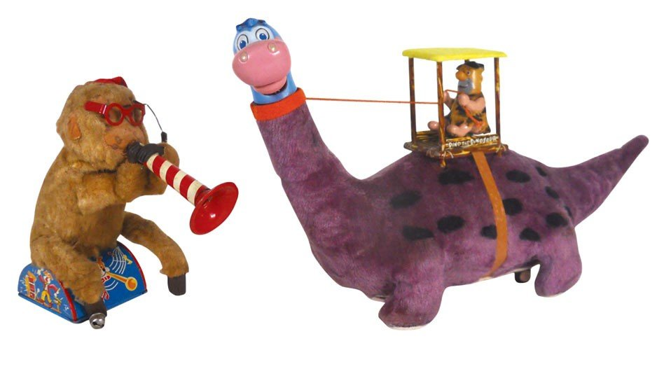 Toys (2), Fred Flintstone Dino The Dinosaur, litho on t