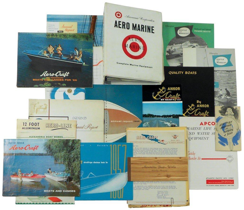 0001: Boat dealer advertising literature, 20+ pcs for A
