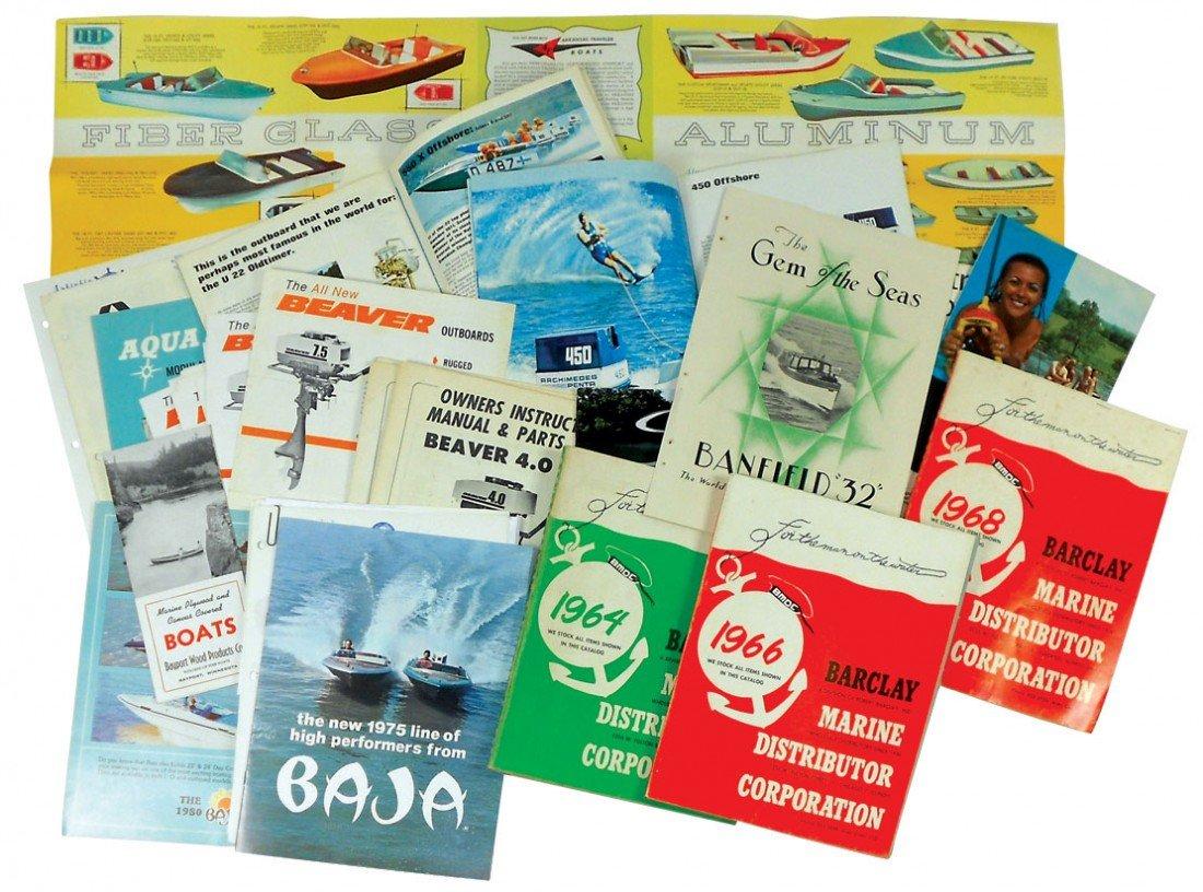 0003: Boat dealer advertising literature, 30+ pcs for A