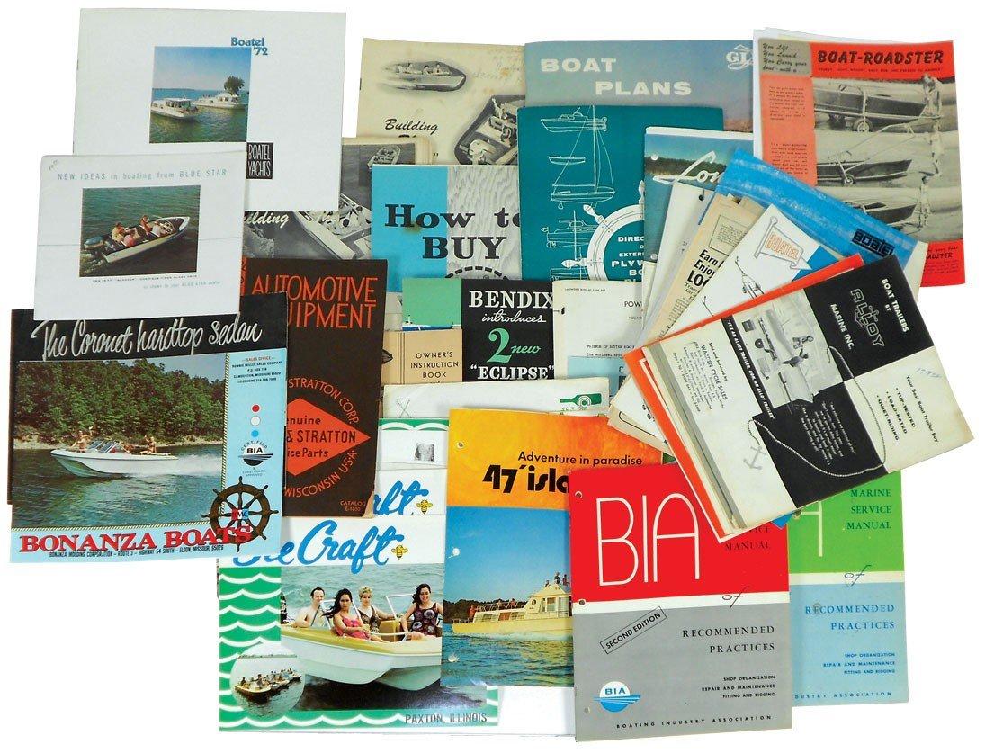 0004: Boat dealer advertising literature, approx 60 pcs