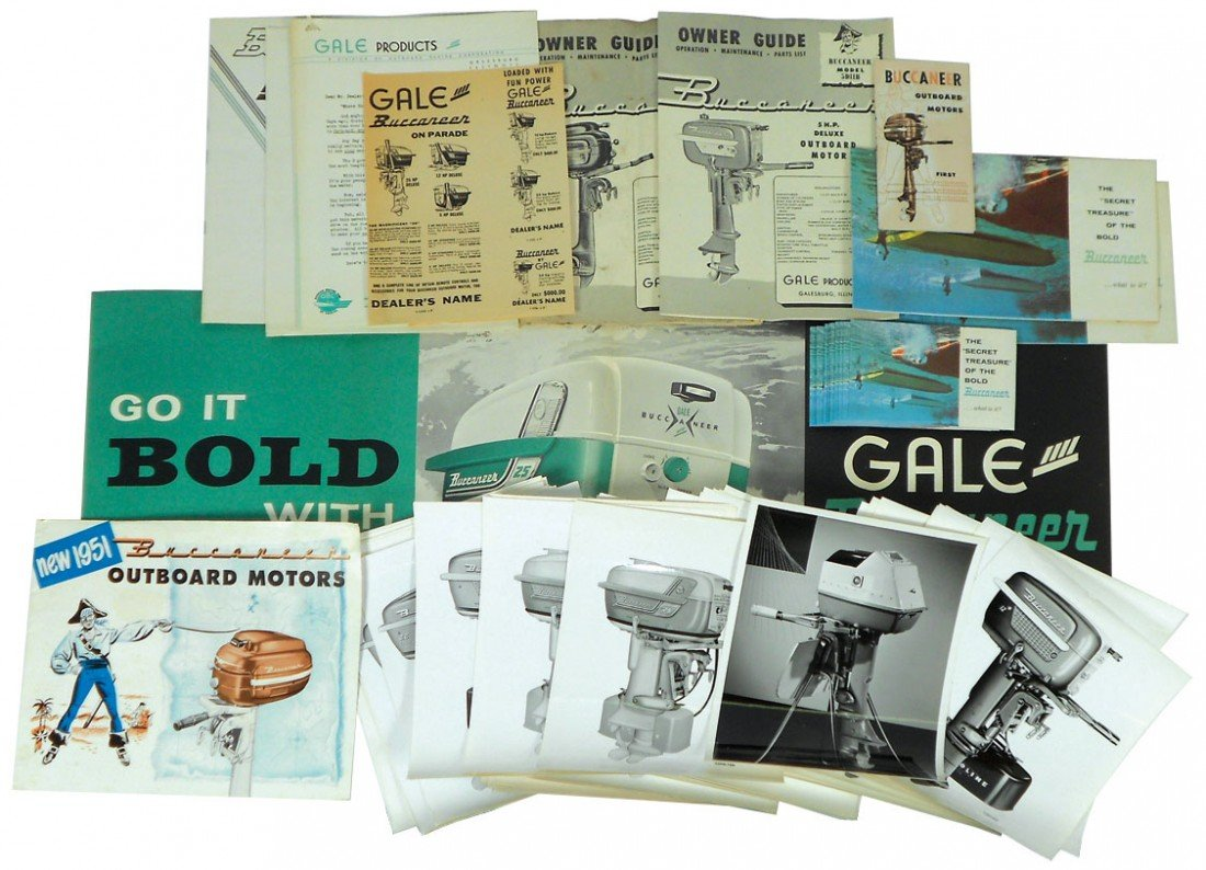 0006: Boat dealer advertising literature, 1958 Buccanee