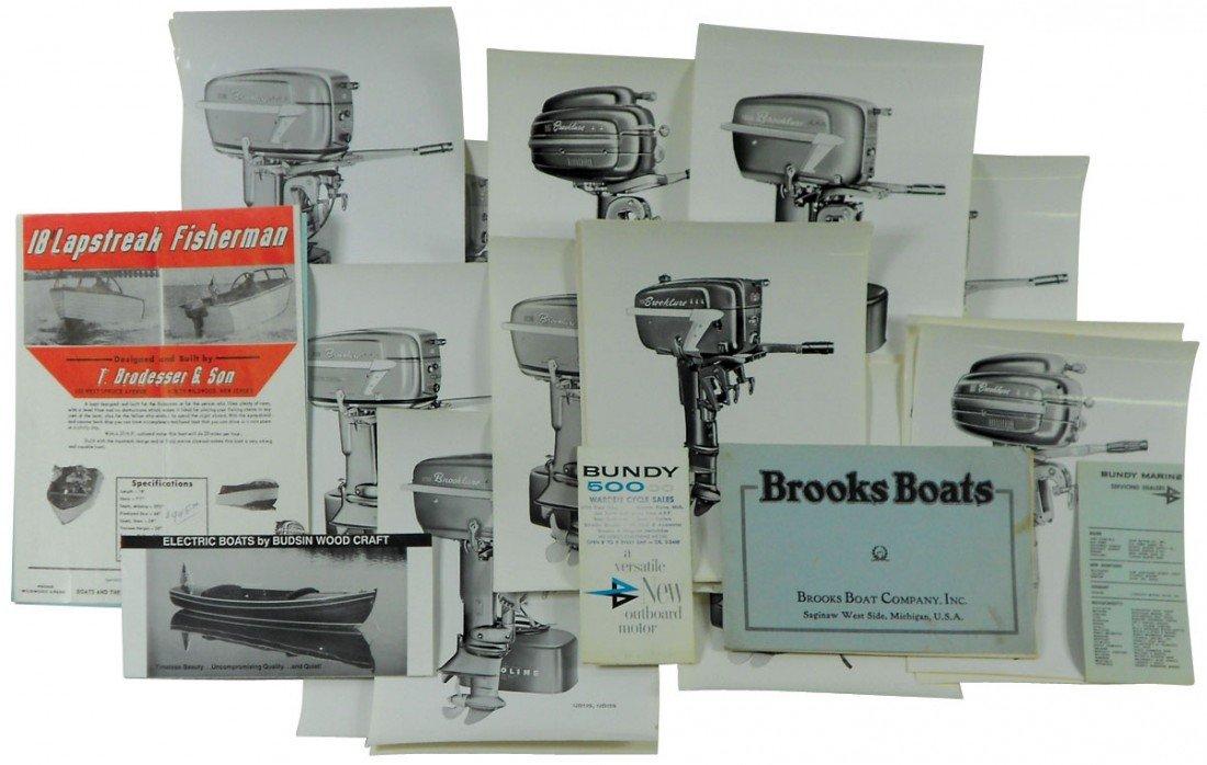 0007: Boat dealer advertising literature, approx 36 pcs