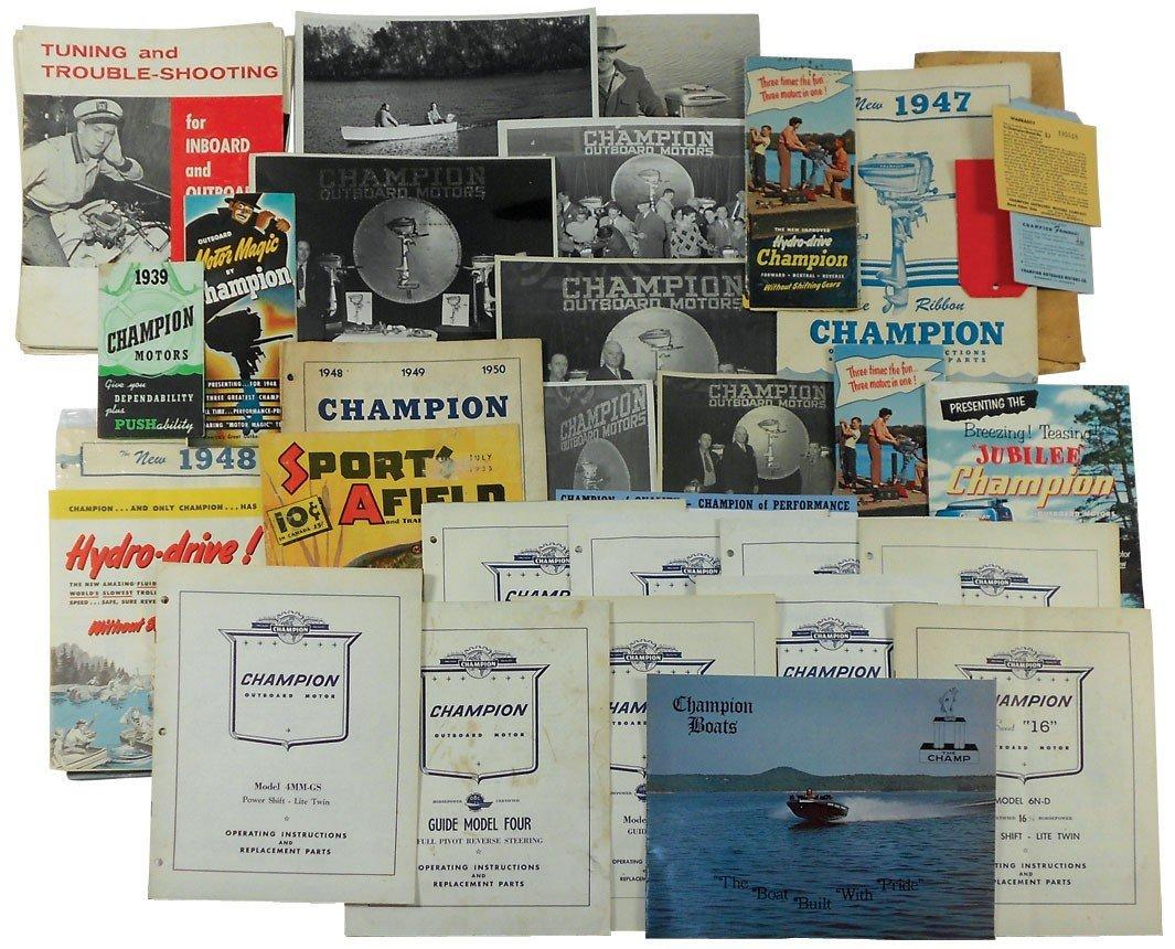 0008: Boat dealer advertising literature, 35+ pcs for C