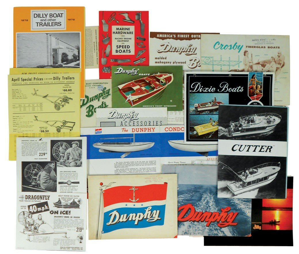 0009: Boat dealer advertising literature, approx 20 pcs