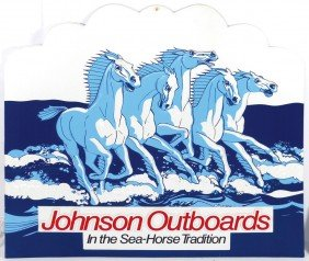Boat Motor Dealer Advertising Signs (4), Johnson