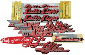 Boat & Motor Decals, Johnson & Larson, 7 Tubes Or