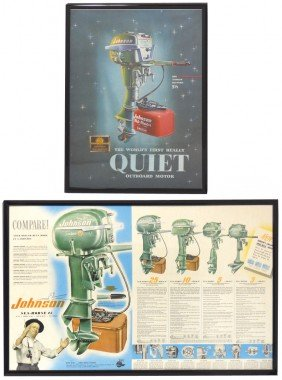 Boat Motor Advertising Posters (2), Johnson Sea-H